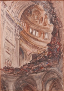 St Paul's Cathedral Crater by A Butler @1941