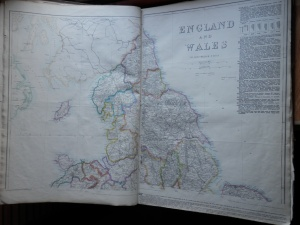 England & Wales from Cassell's British Atlas @ 1860