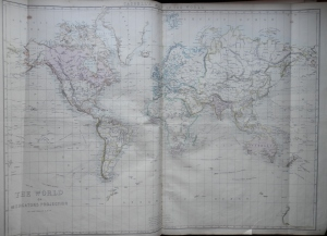 The World on Mercator's Projection by Edward Weller @ 1860