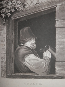 Man with Tankard aquatint with etching after Adriaen van Ostade