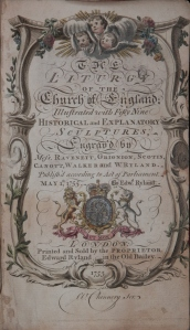 Book of Common Prayer Title Page @ 1755