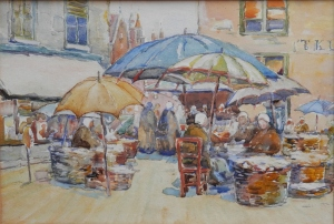 Market Place unsigned @ 1900