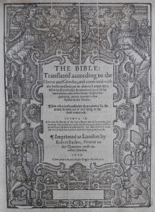 Geneva 'Breeches' Bible @ 1600