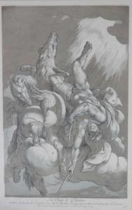 La Chute de Phaeton by Nicolas Le Sueur after Joseph Cesari @ 1730