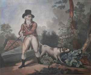 Hare Shooting engraved by C. Cotton after George Morland