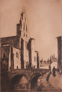 St Lesmos, Bergon, Spain by Lionel Lindsay @ 1926