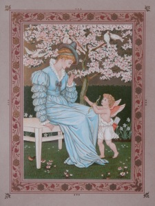 Venus and Cupid by Walter Crane from 'The Quiver of Love' 1876