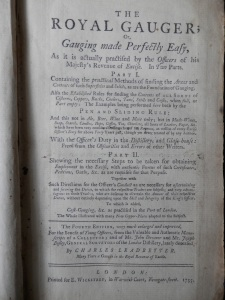 The Royal Gauger by Charles Leadbetter 1755 4th edition