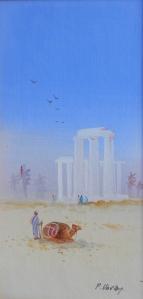 Desert Scene by Frederick Horsma Varley