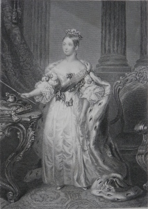 Queen Victoria engraved by Henry Brian Hall @ 1850