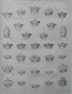 Crowns, Coronets, and Mitres from 'The Cyclopaedia' by Abraham Rees @ 1819