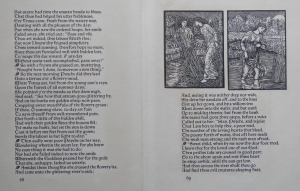 Cupid and Psyche story and woodcut by William Morris