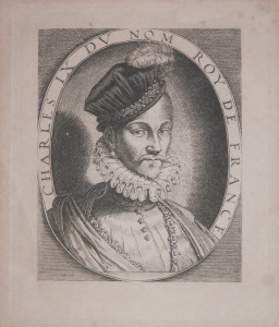 Charles IX King of France after Thomas de Leu @ 1850