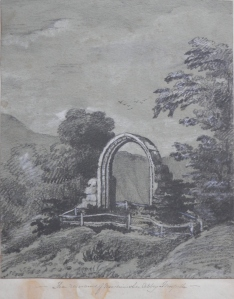 Ruins of Newminster Abbey by unknown artist @ 1845