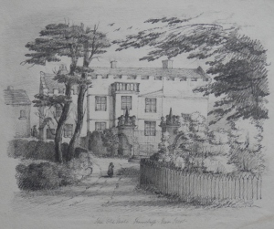 Old Hall, Knostrop drawing by unknown artist @ 1850