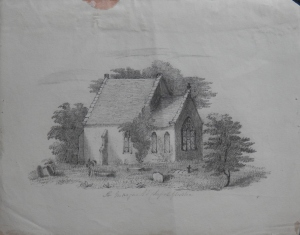 St Margaret's Chapel, Gloucester by unknown artist @ 1845