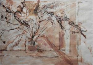 Plant Study signed H. Lintott (Henry John Lintott?)