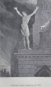Solomon Eagle denouncing the City - etched by John Franklin @ 1841