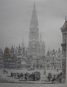 Cathedral Church, Antwerp etched by John Coney @ 1843