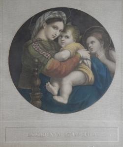 La Madonna della Sedia etcher unknown after Raphael