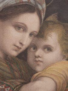La Madonna Della Sedia etcher unknown