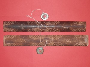 Lontar Case with ancient Chinese coins