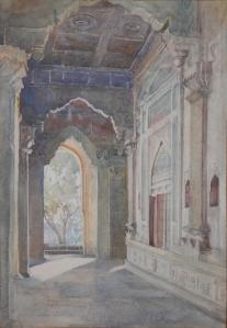 Ibrahim Rauza, Bijapur watercolour by Edith E. Strutton @ 1913