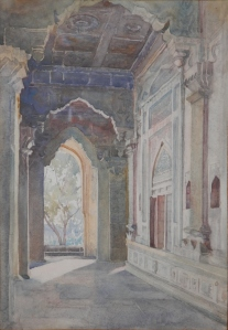Ibrahim Rauza, Bijapur watercolour by Edith E. Strutton @ 1913