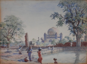 Gol Gumbaz, Bijapur watercolour by Edith E Strutton @ 1913