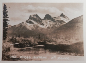 Three Sisters photograph by Byron Harmon