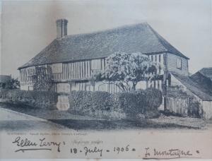 Tenterden, Small Hythe Ellen Terry signed postcard @ 1908
