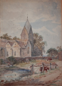 St Mary's Church, Sompting, Sussex artist unknown @ 1800+