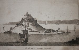 St Michael's Mount, Cornwall from The New London Magazine 1793