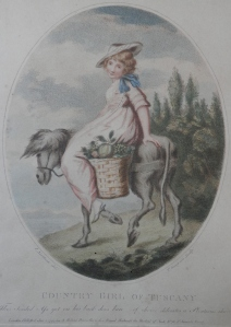 Country Girl of Tuscany - stipple engraving by Thomas Gaugain after James Northcote @ 1794
