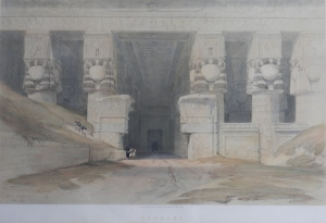 Dendera lithograph after David Roberts by Louis Haghe @ 1847