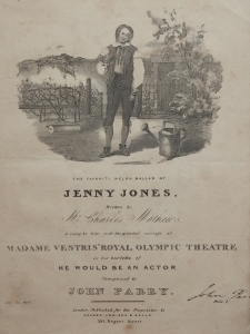 Jenny Jones Welsh ballad composed by John Parry @ 1810?