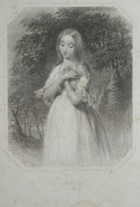 Simplicity - stipple engraving by Francis Holl @ 1844