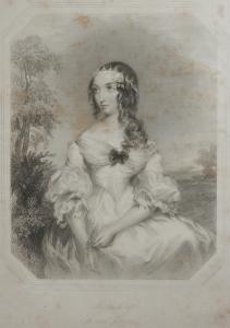 Melancholy - stipple engraving by Francis Holl @ 1844
