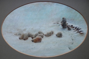 A Joyless Winter Day after Joseph Farquharson @ 1883