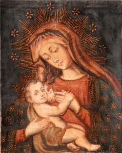Our Lady of the Milk - Nuestra Senora de La Leche - Cuzco School 17th/18th century
