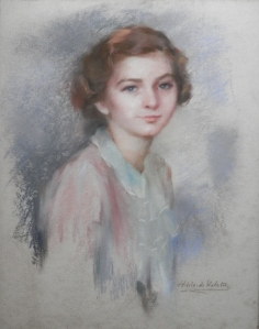 pastel portrait by Adelaide Webster