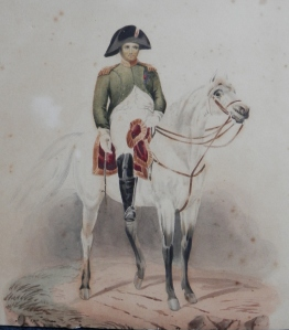 Napoleon on Marengo - watercolour by unknown artist