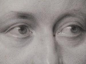 Baron von Bunsen - stipple engraving by JH Robinson @ 1859