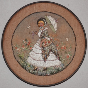 Fashionable Lady - needlework by unknown artist @ 19th century