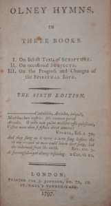 Olney Hymns by John Newton & William Cowper @ 1797