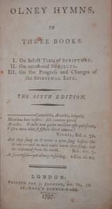 Olney Hymns by John Newton & William Cowper @ 1797