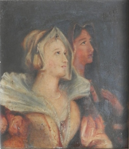 Jane and Elizabeth Seymour at Prayer ? - unknown artist @ 1860