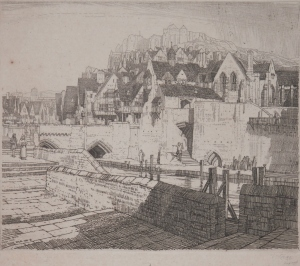 The Quay etching By F. L. Griggs @ 1916