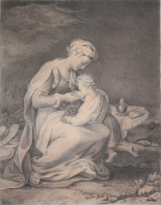 Hagar and Ishmael by unknown artist after Federico Barocci @ 19th century