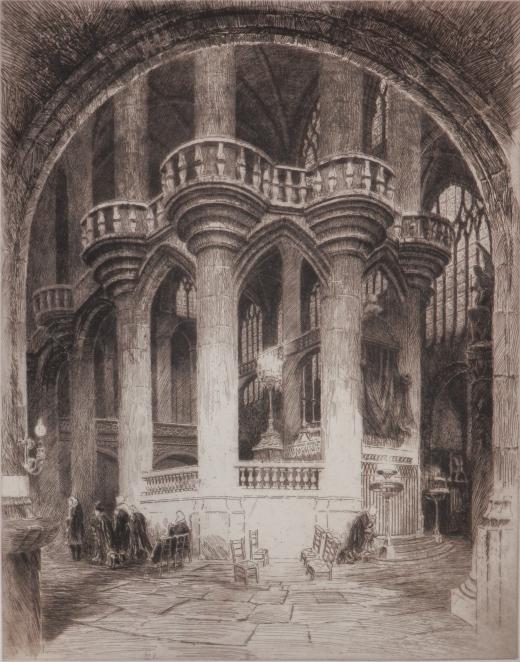 St Etienne du Mont etching
